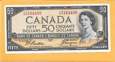 1954 Canadian 50 Dollar Bill A/H5164490 (Circulated)