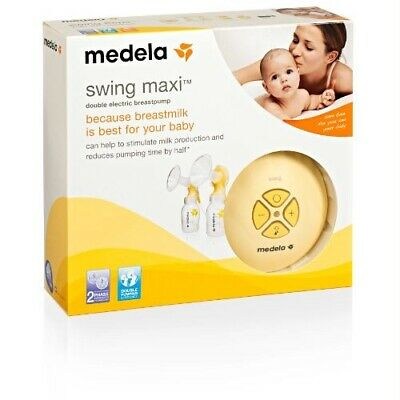 BNIB Medela Swing Maxi Double Electric Breastpump + Easy Expression Bustier