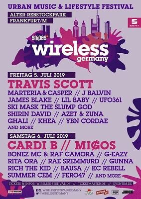 Wireless Festival VIP Tagesticket+Vip Parking