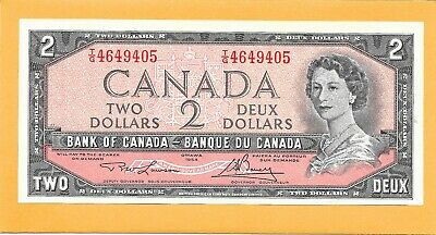 1954 Canadian 2 Dollar Bill T/G4649405 Very Nice Crisp (Circulated)