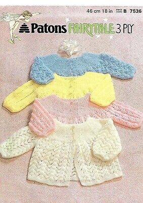 Patons Fairytale 7536 Matinee Coats Knitting Pattern Sent as PDF - Vintage 60's