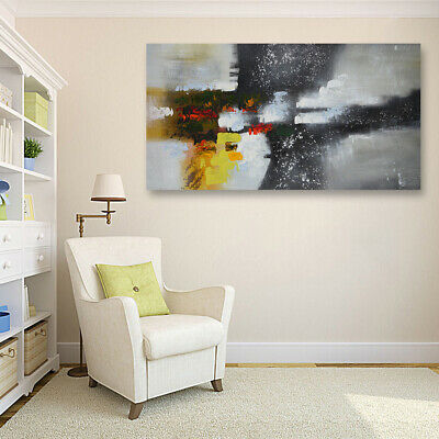 Hand-painted Modern Abstract Oil Painting On Canvas Wall Art Home Decor Framed