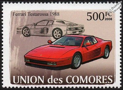 1988 FERRARI Testarossa Sports Car Stamp