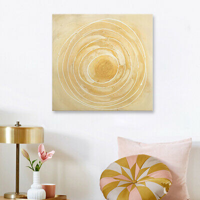 Circles Abstract Oil Painting Hand Painted Home Wall Decorative Canvas Framed