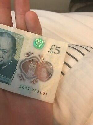 5 GBP Notes Realistic UK Fake Pounds Movie Prop Money Look Like Real 100PCS