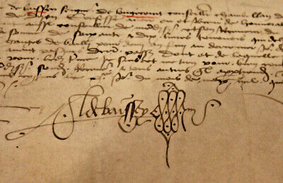 1480 May 10 15th-century French medieval manuscript Burgundy Parchment Lord Sign
