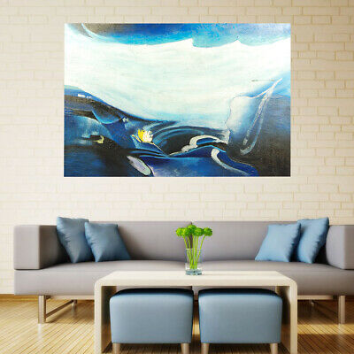100% Hand-Painted Abstract Oil Painting Home Decor Art Canvas Stretched Framed