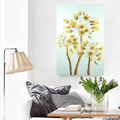 Hand Painted Abstract Oil Painting Wall Art Home Decor - Golden Tree Framed