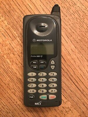 Vintage 1996 Motorola Profile 300 Cell Phone - Good Used Condition