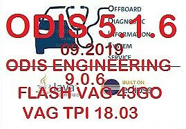 ODIS Service 5.1.5 PostSetup_2019/05 +ODIS ENGINEERING 9.0.6 Full+FLASH VAG 2019