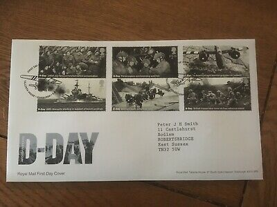 GB 2019 D-Day 75th Anniversary Stamp Set Royal Mail FDC Tallents House SHS
