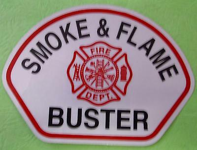 HELMET FRONT SMOKE & FLAME BUSTER  DECAL (pkg of 10) STICKER REFLECTIVE