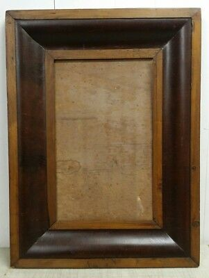 Antique Period American Empire Ogee Walnut & Mahogany Art Picture Frame, 19x25