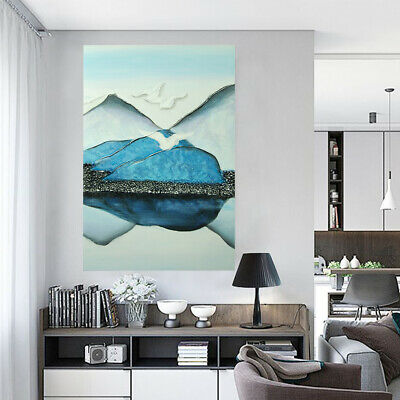 Hand Painted Abstract Oil Painting Canvas Wall Art Home Decor Framed Landscape