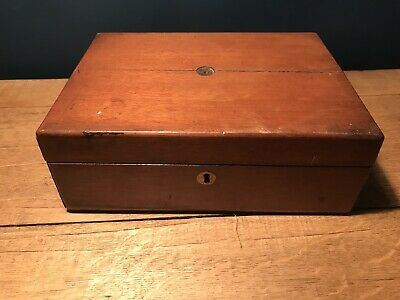 Vintage Antique Victorian Wooden Box Writing Slope