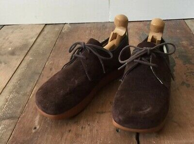 Vintage Mens Roots Canadian Low Top Lace Up Suede Shoes Made In Canada Sz7 M