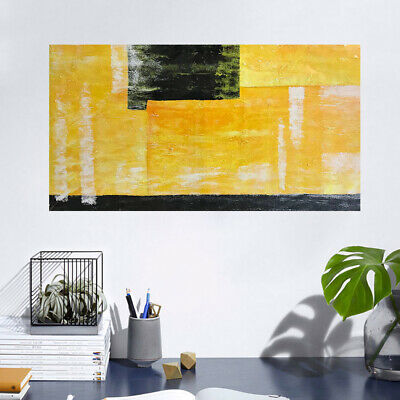 Abstract Handmade Oil Painting Stretched Canvas Wall Art Piece Home Decor Framed