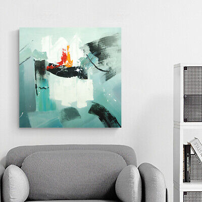 Modern Hand Painted Abstract Art Canvas Oil Painting Wall Home Decor (Framed)