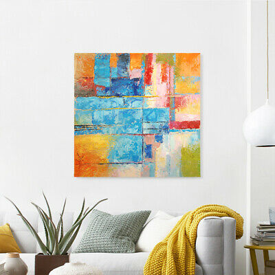 Abstract Hand-painted Art Oil Painting Wall Decor Canvas - Framed Color Combo
