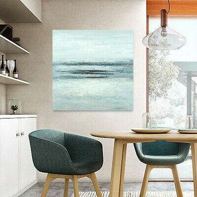 Abstract Hand Painted Art Oil Painting Canvas Modern Home Decor Framed Seascape