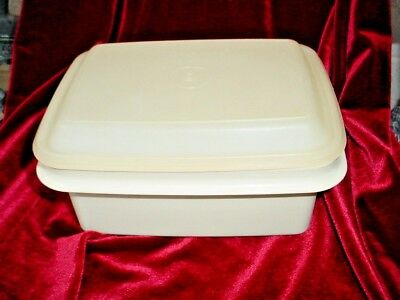 Vtg TUPPERWARE Ice Cream Storeage Container Freeze tp Table Lunchbox Exc Cond