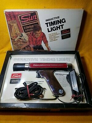 Excellent Vintage Sun Cp7501 Inductive Timiing Light & Tune Up Manual In Box