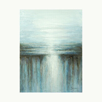 Framed Canvas Hand Painted Oil Painting Wall Art Home Decor Waterfall Landscape