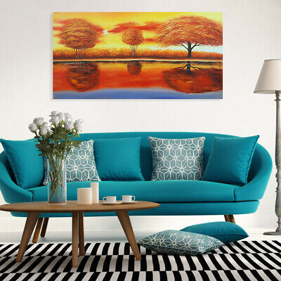 Abstract Hand Painted Oil Painting Stretched Canvas Wall Art Decor Sunset View