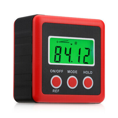 Digital Inclinometer LCD Finder Level Box Protractor Bevel Magnetic Angle