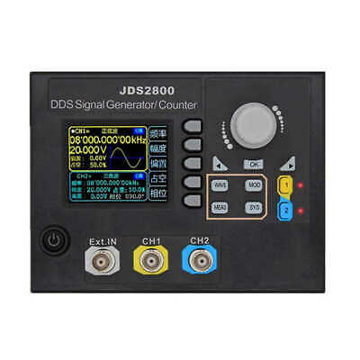 Jds2800 15Mhz Dual-Channel Dds Function Signal Generator Ac100-240V Arbitra T7E3