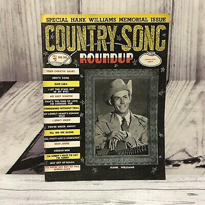 Country Song Roundup Hank Williams Memorial Issue Magazine Vintage