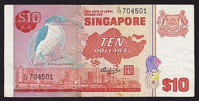 Singapore $10 Dollars banknote 1979 P-11a