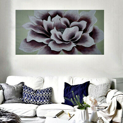 *Peony Flowers* Hand Painted Oil Painting Stretched Canvas Wall Art Decor Framed