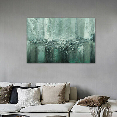 Hand-Painted Oil Painting - Waterfall  Modern Abstract Wall Art Decor With Frame