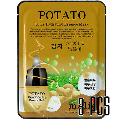 [3PCS POTATO] Ultra Hydrating Essence Mask Sheets Face Moisturizer Anti Wrinkles