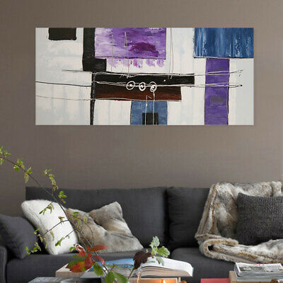 Modern Abstract Wall Decor Art Canvas Oil Painting Pure Hand Painted - Framed