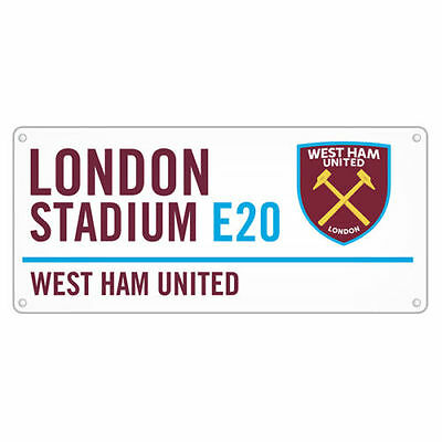 West Ham United Street Sign Window Fan White New Official Licensed Product