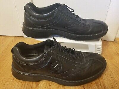 795bffde5f ECCO FUSION OXFORD Mens EUR Sz 42 US 8-8.5 Black Bicycle Toe Lace Up ...