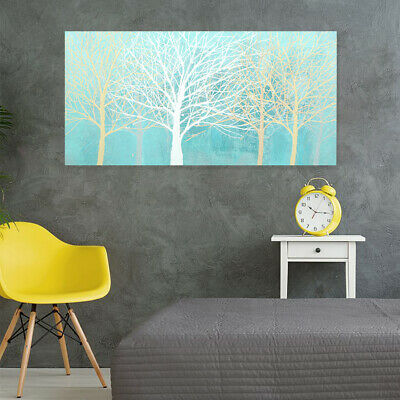 Modern Hand Painted Art Canvas Oil Painting Wall Art Home Decor With Frame Trees
