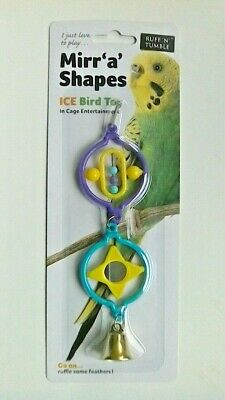 Mirr 'A' Shape Budgie / Small Bird Toy - Suitable For All Small Cage Birds - New