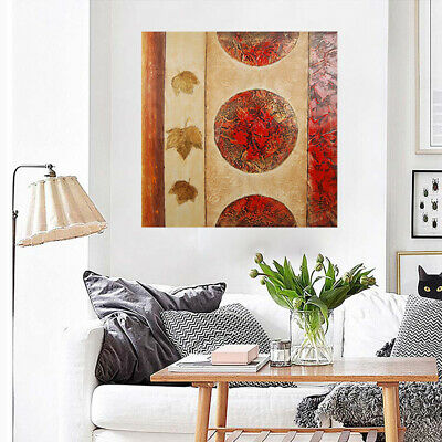 Abstract Hand Painted Art Canvas Oil Painting - Flag   Modern Wall Decor Framed