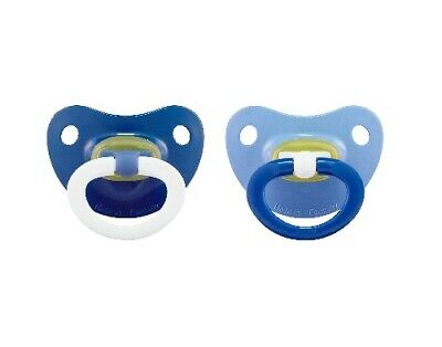 Nuk Baby Boy 2-Pack Latex Orthodontic Pacifiers Blue Size 18-36M