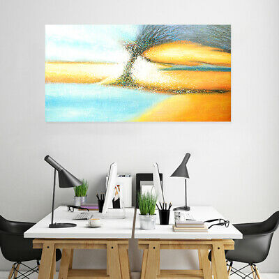 Hand Painted Canvas Oil Painting Abstract Wall Art Home Decor Framed - Aurora