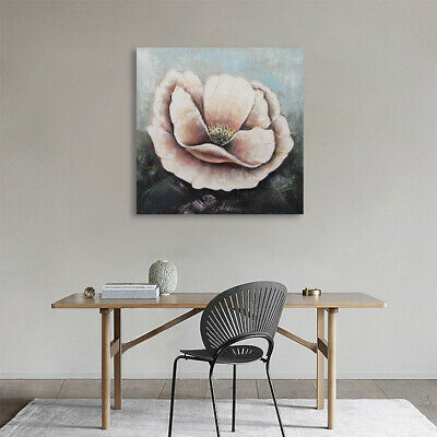 Abstract Hand Painted Art Canvas Oil Painting Wall Decor - Framed Poppy Flowers