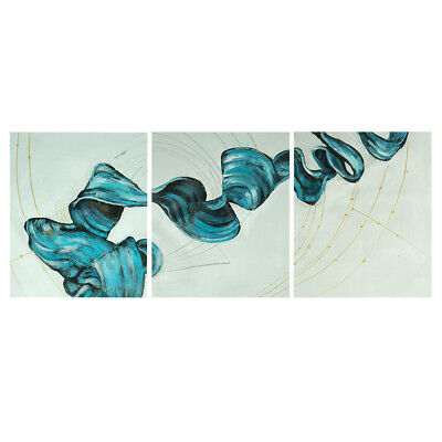 Modern Abstract Hand Painted Art Canvas Oil Painting Home Decor Framed : Ribbon