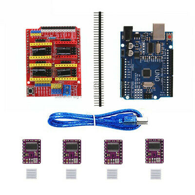 UNO R3 Board for Arduino Compatible + CNC V3 Shield + 4x DRV8825 Driver