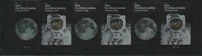 US 5399-5400 5400a 1969 First Moon Landing forever plate strip 6 MNH 2019