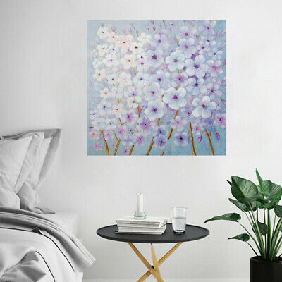 Abstract Hand Painted Oil Painting Canvas Wall Art Home Decor Framed Plum Flower
