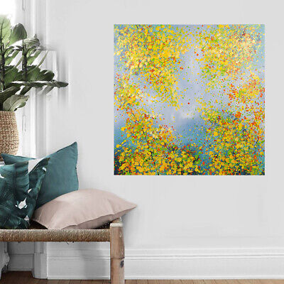 Framed Abstract Hand Painted Art Canvas Oil Painting Home Decor Winter Jasmine