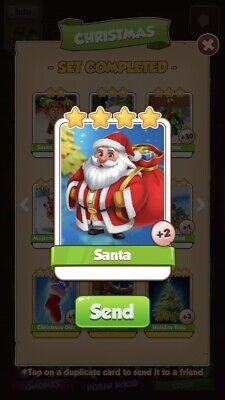 Coin Master Santa. *HIGH RARE* Buy One Card, Get Additional Free. Fast Delivery